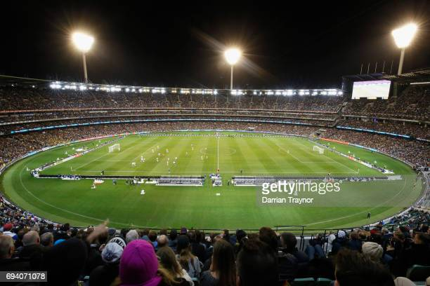 A general view during the Brasil Global Tour match between Brazil and Argentina at Melbourne Cricket Ground on June 9 2017 in Melbourne Australia