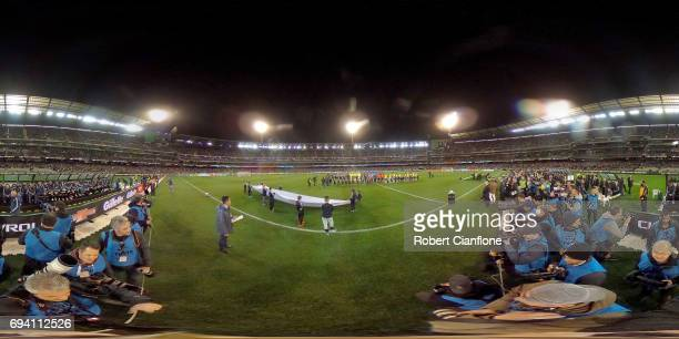 A general view during the Brazil Global Tour match between Brazil and Argentina at Melbourne Cricket Ground on June 9 2017 in Melbourne Australia