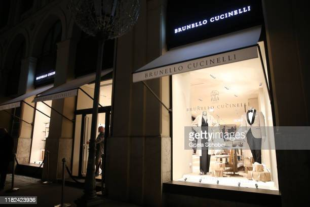 General view during the Brunello Cucinelli women store opening on November 14, 2019 in Munich, Germany.