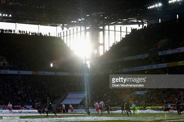 A general view during the Bundesliga match between 1 FC Koeln and SportClub Freiburg at RheinEnergieStadion on December 10 2017 in Cologne Germany