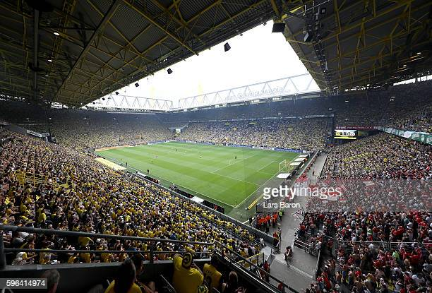 A general view during the Bundesliga match between Borussia Dortmund and 1 FSV Mainz 05 at Signal Iduna Park on August 27 2016 in Dortmund Germany