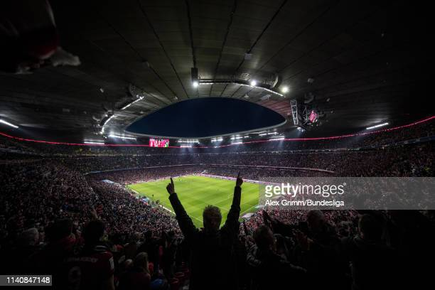 General view during the Bundesliga match between FC Bayern Muenchen and Borussia Dortmund at Allianz Arena on April 06, 2019 in Munich, Germany.