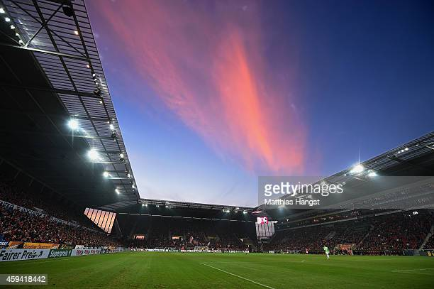 General view during the Bundesliga match between FSV Mainz 05 and SC Freiburg at Coface Arena on November 22 2014 in Mainz Germany