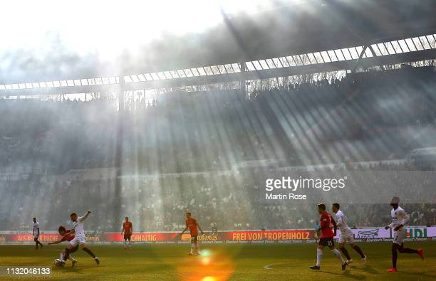 A general view during the Bundesliga match between Hannover 96 and Eintracht Frankfurt at HDIArena on February 24 2019 in Hanover Germany
