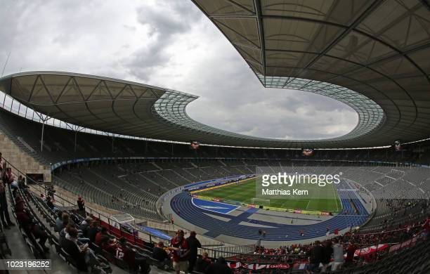 General view during the Bundesliga match between Hertha BSC and 1. FC Nuernberg at Olympiastadion on August 25, 2018 in Berlin, Germany.