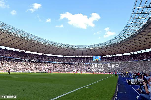 A general view during the Bundesliga match between Hertha BSC and VFB Stuttgart on September 12 2015 in Berlin Germany