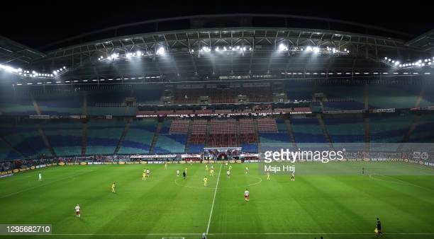 General view during the Bundesliga match between RB Leipzig and Borussia Dortmund at Red Bull Arena on January 09, 2021 in Leipzig, Germany. Sporting...