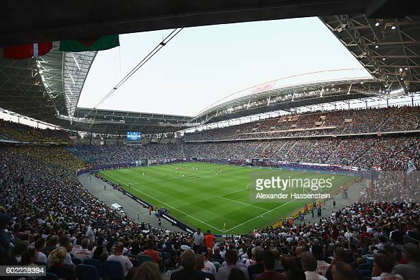 General view during the Bundesliga match between RB Leipzig and Borussia Dortmund at Red Bull Arena on September 10 2016 in Leipzig Germany