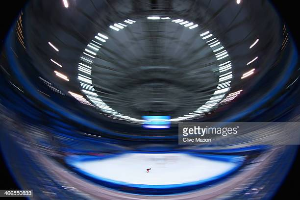 A general view during the Canada Short Track team training session ahead of the Sochi 2014 Winter Olympics at Iceberg Skating Palace on February 2...