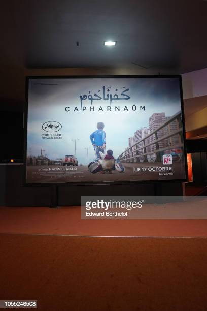 General view during the Capharnaum Paris Premiere photocall at UGC Cine Cite des Halles on October 15 2018 in Paris France