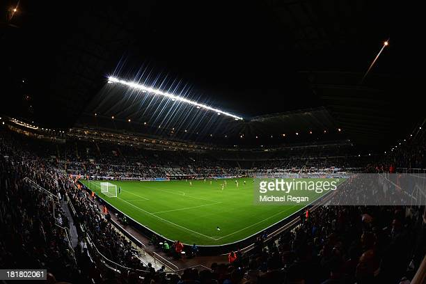A general view during the Capital One Cup Third Round match between Newcastle United and Leeds United at St James' Park on September 25 2013 in...