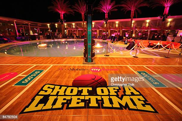 A general view during the celebrity launch of the TMobile myFaves Shot of a Lifetime sweepstakes during NBA AllStar Weekend in Scottsdale AR on...