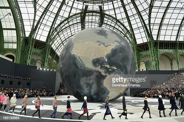 General view during the Chanel Fall/Winter 2013 ReadytoWear show as part of Paris Fashion Week at Grand Palais on March 5 2013 in Paris France