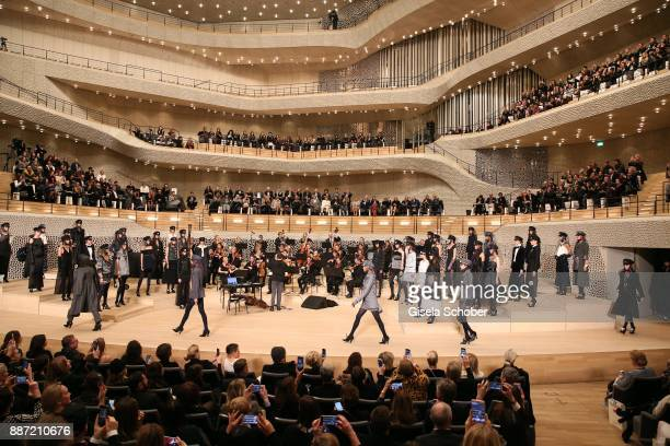 A general view during the Chanel Trombinoscope collection Metiers d'Art 2017/18 show at Elbphilharmonie on December 6 2017 in Hamburg Germany