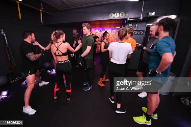 A general view during the charity KOBOX class at KOBOX Marylebone raising funds for Rainbow Railroad a charity which helps members of the LGBTQ...