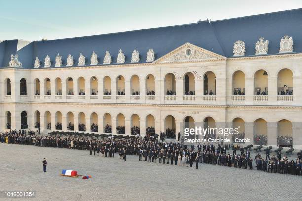 General view during the Charles Aznavour national Tribute at Les Invalides on October 5, 2018 in Paris, France.