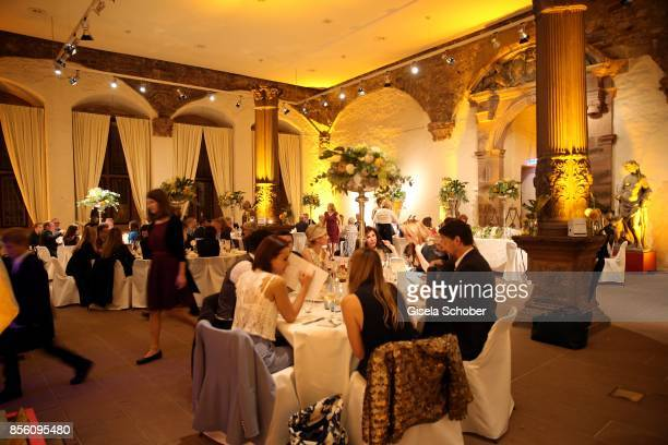A general view during the church wedding of Erdogan Atalay and Katja Ohneck at Heidelberg Castle on September 30 2017 in Heidelberg Germany