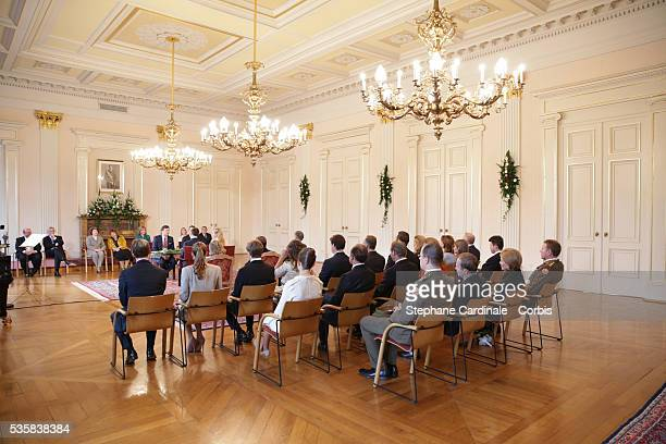 General View during the civil ceremony of the Wedding, at the Hotel De Ville in Luxembourg.