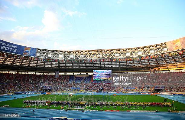 A general view during the closing ceremony during Day Nine of the 14th IAAF World Athletics Championships Moscow 2013 at Luzhniki Stadium on August...