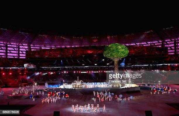 A general view during the Closing Ceremony for the Baku 2017 4th Islamic Solidarity Games at Olympic Stadium on May 22 2017 in Baku Azerbaijan