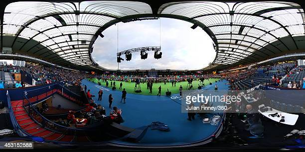A general view during the Closing Ceremony for the Glasgow 2014 Commonwealth Games at Hampden Park on August 3 2014 in Glasgow United Kingdom