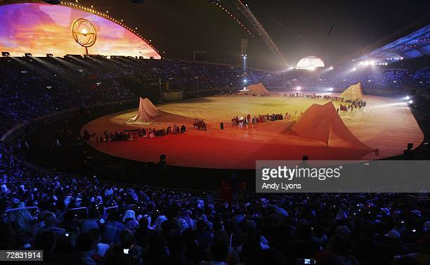 A general view during the Closing Ceremony of the 15th Asian Games Doha 2006 at the Khalifa Stadium on December 15 2006 in Doha Qatar