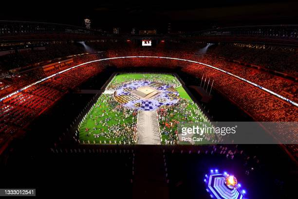 General view during the Closing Ceremony of the Tokyo 2020 Olympic Games at Olympic Stadium on August 08, 2021 in Tokyo, Japan.