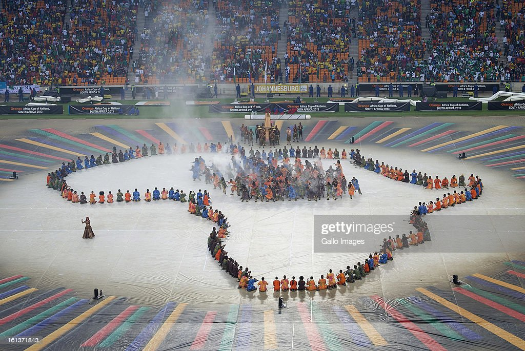 A general view during the closing ceremony prior to the 2013 Africa Cup of Nations Final between Nigeria and Burkina Faso at the National Stadium in Soweto, on Februay 10, 2013 in Johannesburg, South Africa.