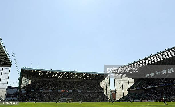 A general view during the Clydesdale Bank Premier League match between Hibernian and Celtic at Easter Road on July 24 2011 in Edinburgh Scotland
