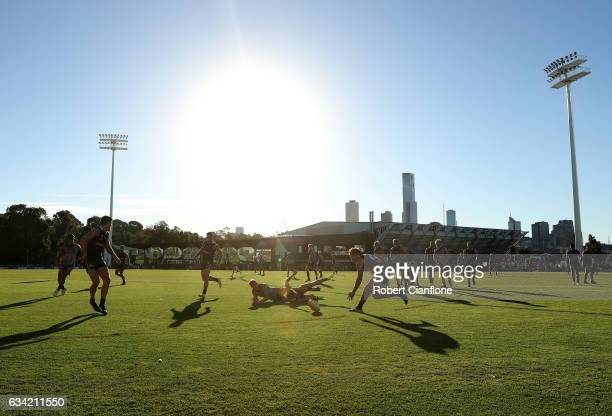 A general view during the Collingwood Magpies AFL intraclub match at Olympic Park on February 8 2017 in Melbourne Australia