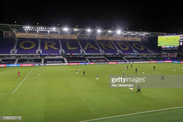 General view during the CONCACAF Champions League semifinal game between Los Angeles FC and Club America at Exploria Stadium on December 20, 2020 in...