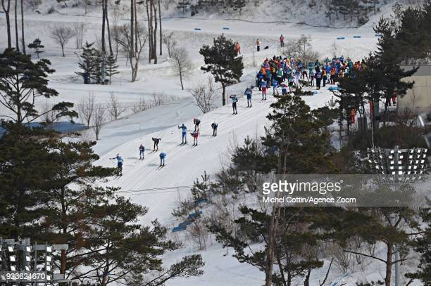 A general view during the CrossCountry Men's 50km Mass Start at Alpensia CrossCountry Centre on February 24 2018 in Pyeongchanggun South Korea
