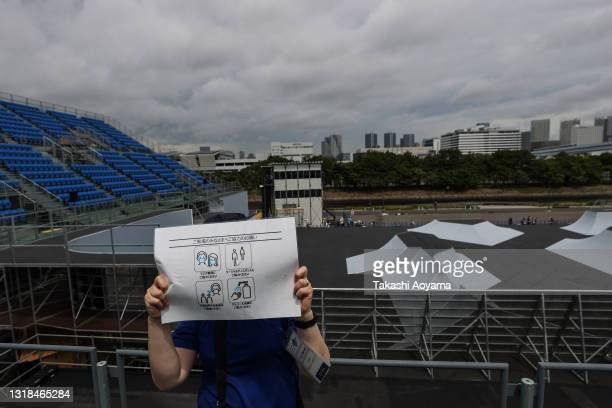 General view during the Cycling BMX Freestyle test event at the Ariake Urban Sports Park on May 17, 2021 in Tokyo, Japan.