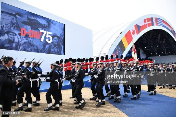 A general view during the Dday 75 Commemorations on June 05 2019 in Portsmouth England The political heads of 16 countries involved in World War II...