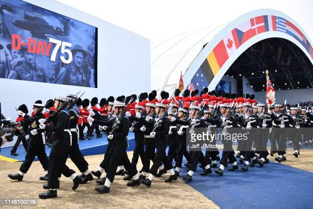 General view during the D-day 75 Commemorations on June 05, 2019 in Portsmouth, England. The political heads of 16 countries involved in World War II...
