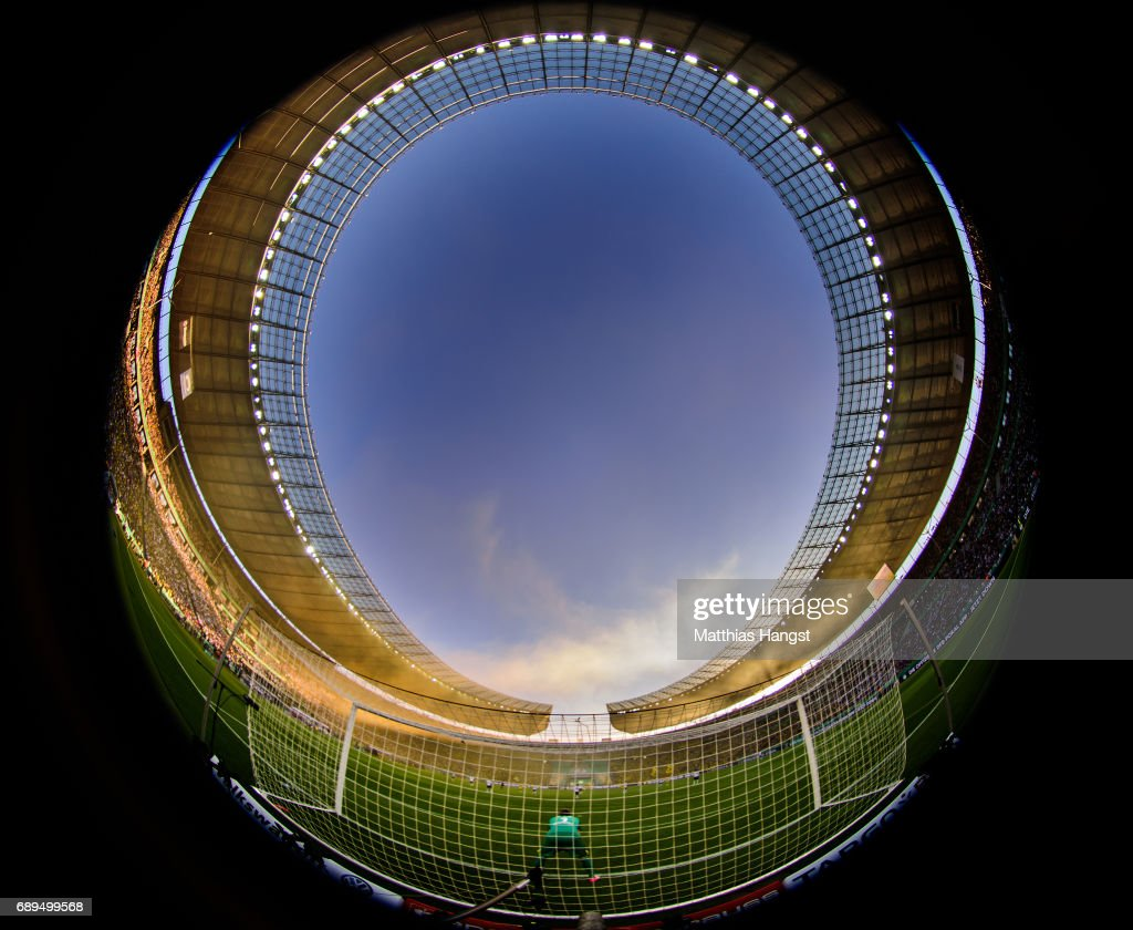 A general view during the DFB Cup final match between Eintracht Frankfurt and Borussia Dortmund at Olympiastadion on May 27, 2017 in Berlin, Germany.
