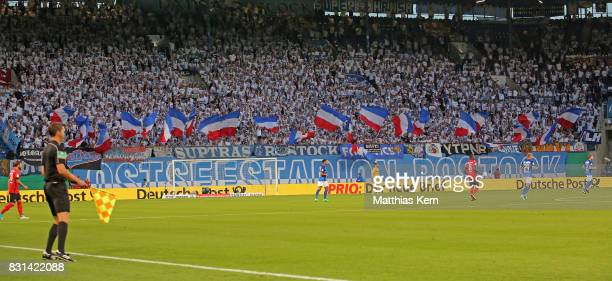 A general view during the DFB Cup first round match between FC Hansa Rostock and Hertha BSC at Ostseestadion on August 14 2017 in Rostock Germany