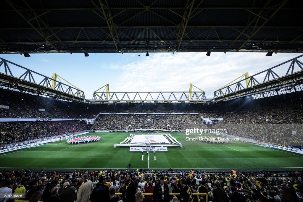 A general view during the DFL Supercup 2017 match between Borussia Dortmund and Bayern Muenchen at Signal Iduna Park on August 5, 2017 in Dortmund, Germany.