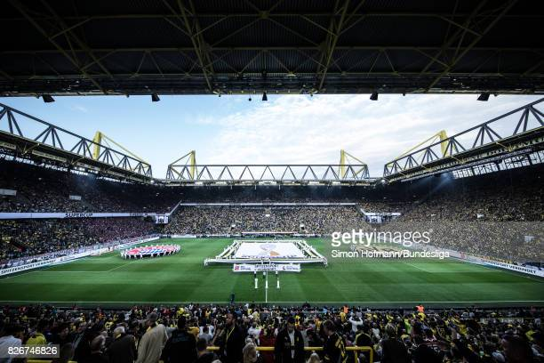 General view during the DFL Supercup 2017 match between Borussia Dortmund and Bayern Muenchen at Signal Iduna Park on August 5, 2017 in Dortmund,...