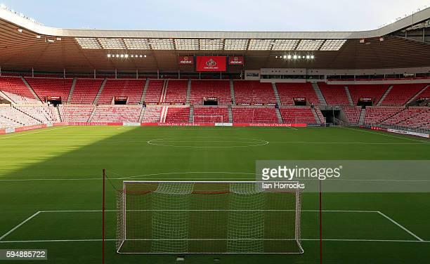 A general view during the EFL Cup second round match between Sunderland AFC and Shrewsbury Town FC at Stadium of Light on August 24 2016 in...