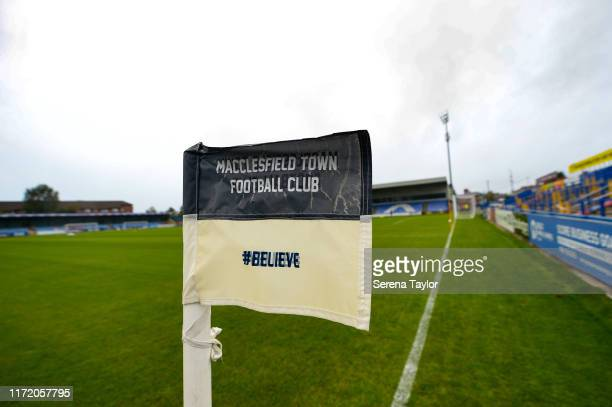 General view during the EFL Trophy Match between Macclesfield Town and Newcastle United U23 at Moss Rose Ground on September 03, 2019 in...