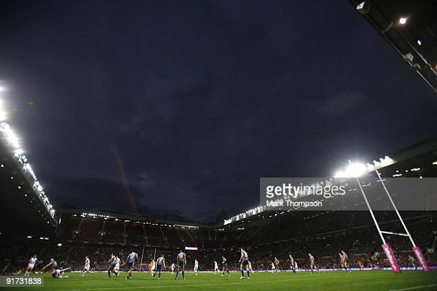 A general view during the Engage Super League Grand Final between Leeds Rhinos and St Helens at Old Trafford on October 10 2009 in Manchester England
