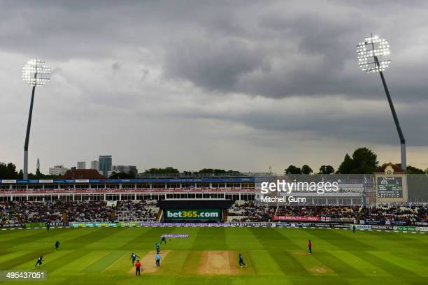 A general view during the England v Sri Lanka one day international match at the Edgbaston Cricket Ground on June 03 2014 in Edgbaston England