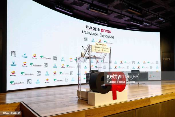 """General view during the Europa Press interview """"Desayunos Deportivos Europa Press"""" to Miguel Carballeda, President of the Spanish Paralympic Comitee,..."""