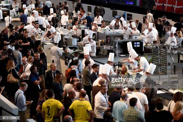 General view during the Europe 2018 Bocuse d'Or International culinary competition Best ten teams will access to the world final in Lyon in 2019