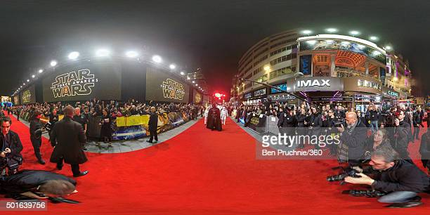 A general view during the European Premiere of 'Star Wars The Force Awakens' at Leicester Square on December 16 2015 in London England