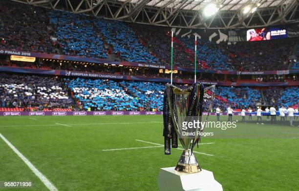 A general view during the European Rugby Champions Cup Final match between Leinster Rugby and Racing 92 at San Mames Stadium on May 12 2018 in Bilbao...
