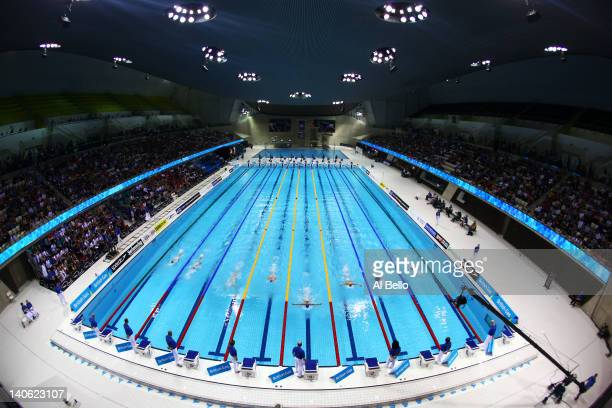A general view during the evening session on day one of the British Gas Swimming Championships at the London Aquatics Centre on March 3 2012 in...