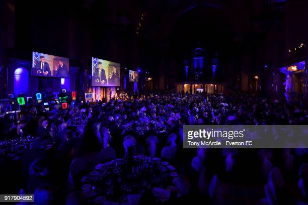 A general view during the Everton in the Community Gala Dinner at St George's Hall on February 13 2018 in Liverpool England