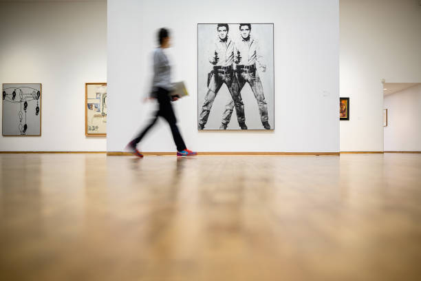"DEU: Museum Ludwig Cologne With ""Andy Warhol Now"" Exhibition Re-Open To The Public After Pandemic Closure"